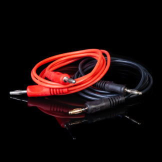 red and black leads